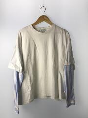 長袖Tシャツ/M/コットン/WHT