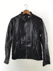 17AW シングルライダースジャケット/36/羊革/ブラック