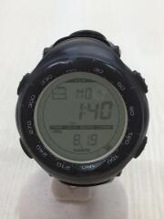 クォーツ腕時計/デジタル/ラバー/GRN/BLK