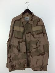 ミリタリージャケット/L/コットン/BEG/カモフラ/19AW/MODULAR LS 02