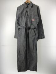 40S/パイオニア/オールインワン/--/コットン/IDG/ストライプ/裾上げ有/vintage/
