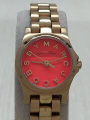 クォーツ腕時計/アナログ/ステンレス/PNK/GLD/mbm3311