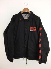FRT/ANSWER Coach jacket/ナイロンジャケット/XL/ナイロン/BLK/無地/コーチジャケット