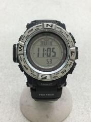腕時計/デジタル/ラバー/SLV/BLK/PRW-3500