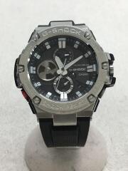 腕時計/アナログ/ラバー/SLV/BLK/GST-B100/G-SHOCK Bluetooth ソーラー G-STEEL