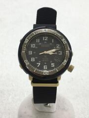 腕時計/アナログ/ナイロン/WHT/BLK/V157-0CJ0
