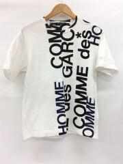 Tシャツ/SS/コットン/WHT/総柄