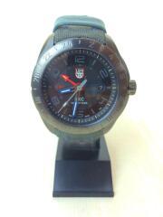 SXC STEEL GMT 5120 SPACE SERIES/クォーツ腕時計/アナログ/キャンバス/BLK