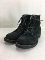 黒タグ/ブーツ/US7/Dワイズ/BLK/スウェード/77060/ビブラムソール