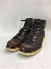 ラインマン/ワークブーツ/US8.5/DワイズBRW/レザー/2906/靴紐劣化有