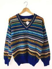 セーター(厚手)/--/ウール/マルチカラー/90s/オールド/日本製/ノルディック