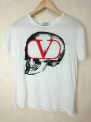 Tシャツ/S/コットン/WHT/プリント/19AW/GOスカルプリントTシャツ