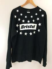 スウェット/M/コットン/BLK/STAR BOX LOGO CREW NECK SWEAT TOP/FCRB-1700