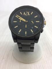 クォーツ腕時計/アナログ/ステンレス/ブラック/黒/AX2094/クロノグラフ/3針/カレンダー