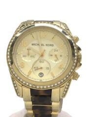 MK-6094 BLAIR ブライアー クォーツ腕時計/アナログ/ステンレス/BEG/BRW ゴールド