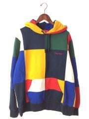 パーカー/L/コットン/マルチカラー/Patchwork Hooded Sweatshirt/17AW