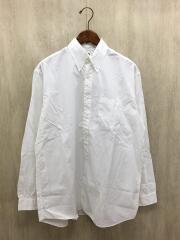長袖シャツ/2/コットン/WHT/無地