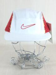 19SS/Boucle Running Hat/キャップ/FREE/ポリエステル/WHT
