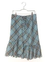 FX575-236/スカート/36/ポリエステル/BLU/チェック