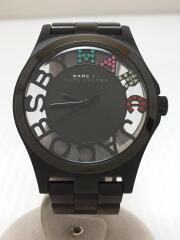 MBM3265/Henry Skeleton/クォーツ腕時計/アナログ/ステンレス/BLK