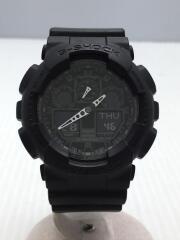G-SHOCK/GA-100-1A1ER/クォーツ腕時計/デジアナ/ラバー/BLK/ジーショック