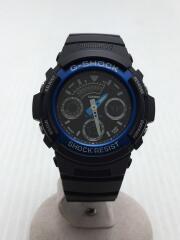 G-SHOCK/AW-591-2AJF/クォーツ腕時計/デジアナ/ラバー/BLK/ジーショック/カシオ