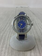 スタージュエリー/クォーツ腕時計/アナログ/レザー/BLU/BLU
