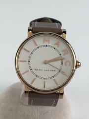 マークジェイコブス/クォーツ腕時計/アナログ/レザー/ホワイト/ブラウン/MARC JACOBS