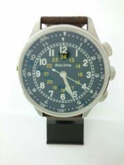 【美品】ブローバ/自動巻腕時計/96A245/ケース・保証書あり