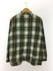 ネルシャツ/コットン/BLU/チェック