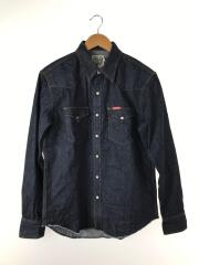 長袖シャツ/L/デニム/IDG/HYSTERIC刺繍 ウエスタンデニムシャツ