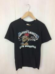 Tシャツ/M/コットン/ブラック/80S/ヴィンテージ/Hanesボディ// プリント