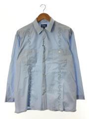 Reyn Spooner/長袖シャツ/L/コットン/BLU/キューバシャツ