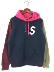 パーカー/S/ネイビー/19SS/S Logo Colorblocked Hooded Sweatshirt/プルオーバー Sロゴ カラーブロック