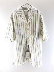 半袖シャツ/46/ストライプ/20SS/ダブルGストライプボウリングシャツ/623156