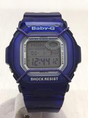 クォーツ腕時計/アナログ/ラバー/ブルー/BG-361/Baby-G