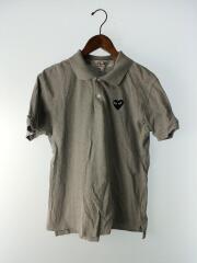 PLAY COMME des GARCONS◆ポロシャツ/L/グレー/AZ-T078