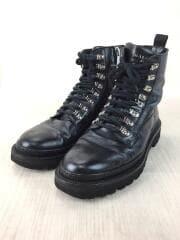BALMAIN/ブーツ/41/ブラック/レザー/WSHC309PG001/ユーティリティアンクルブーツ
