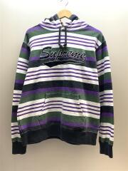 18SS/Striped Hooded Sweatshirt/パーカー/M/コットン/マルチカラー/ストライプ