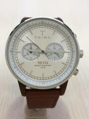 Nevil Hazel Brown/クォーツ腕時計/アナログ/レザー/SLV/NEAC119
