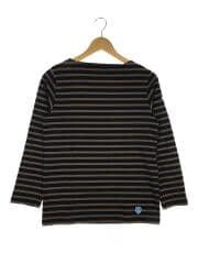 バスクシャツ/長袖Tシャツ/1/コットン/BRW