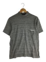 16SS/Navy Yard Neck Tee/ハイネックTシャツ/38/コットン/GRY/KS6SCS02