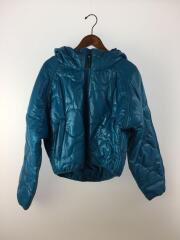 フーデッドパデッドジャケット/M/ポリエステル/ブルー/CZ4121