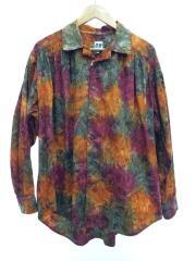 Painter Shirt/Abstract Batik/タイダイ/長袖シャツ/M/コットン/BRW/総柄