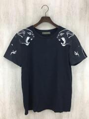 Tシャツ/S/コットン/BLK/タイガープリント