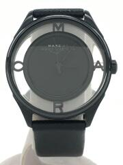 ティザー/クォーツ腕時計/アナログ/レザー/BLK/BLK/MBM1379
