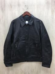 レザージャケット・ブルゾン/L/牛革/BLK