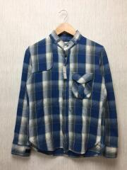 marka/ネルシャツ/2/コットン/BLU/チェック/M12A-19SH01C