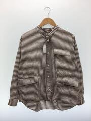 20SS/FATスタンドカラーシャツ/M/コットン/ストライプ