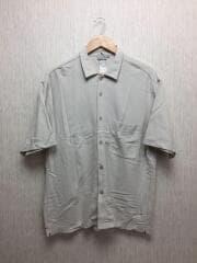 半袖シャツ/L/コットン/グレー